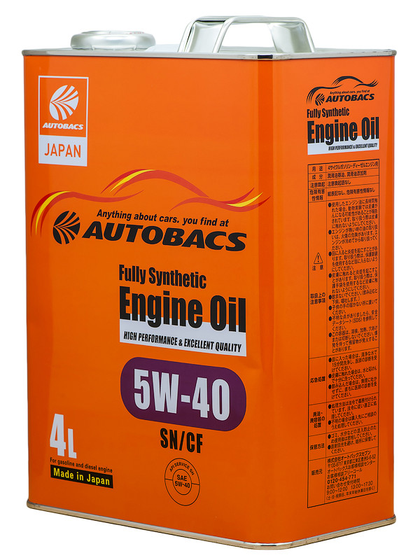Масло моторное AUTOBACS ENGINE OIL FS 5W40 SN/CF, 4л
