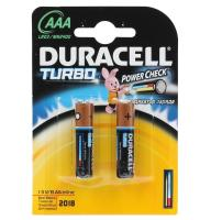 Элемент питания Duracell Батарейка LR03-2BL Turbo AAA 2 шт