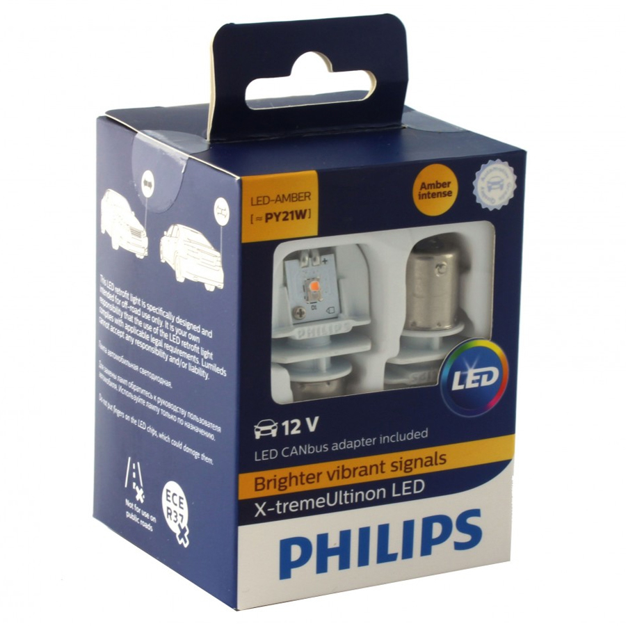 Philips X-tremeUltinon LED gen2 (PY21W, 11498XUAX2) + Smart Canbus