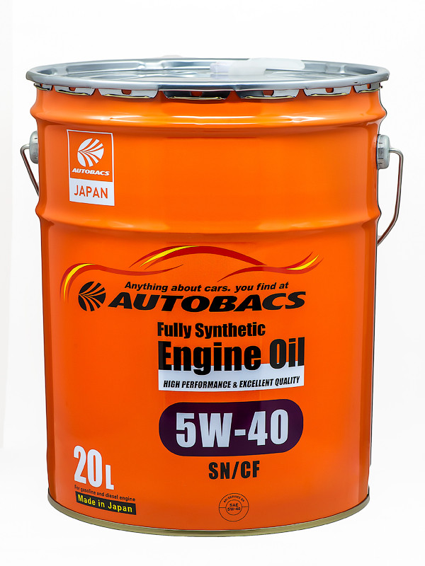 Масло моторное AUTOBACS ENGINE OIL FS 5W40 SN/CF, 20л