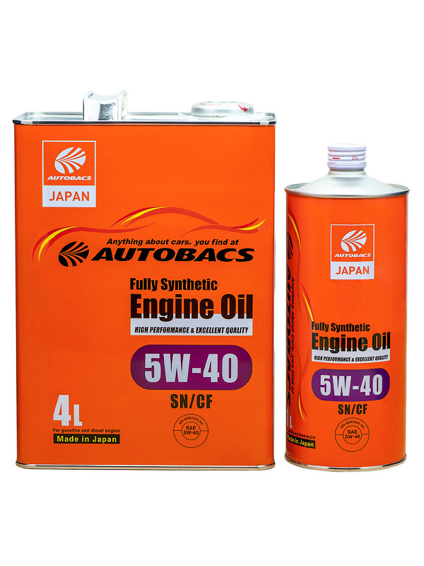 Масло моторное AUTOBACS ENGINE OIL FS 5W40 SN/CF, 200л