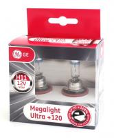 General Electric H11 12V-55W (PGJ19-2) Megalight Ultra +120%