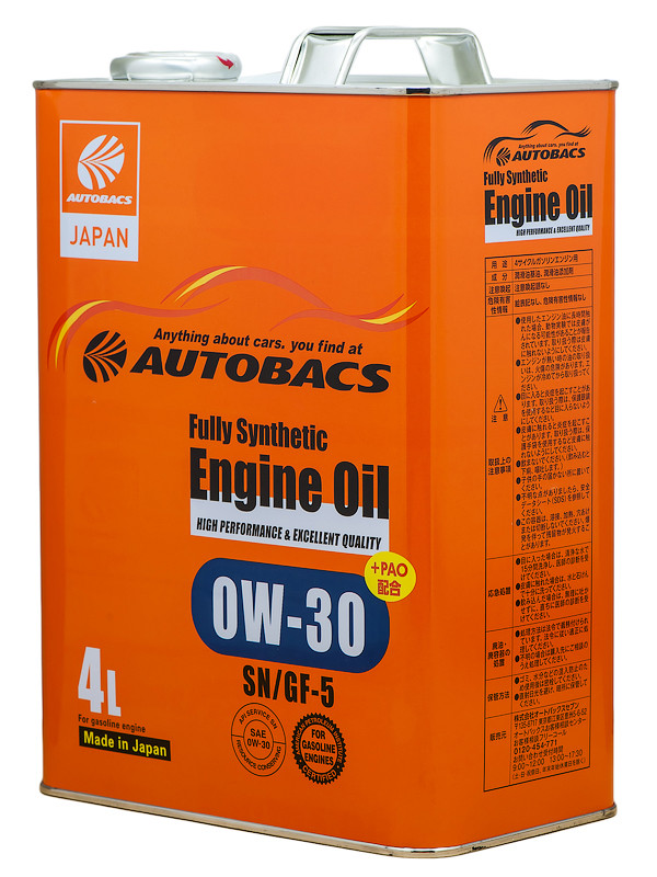 Масло моторное AUTOBACS ENGINE OIL FS 0W30 SN/GF-5+PAO, 4л