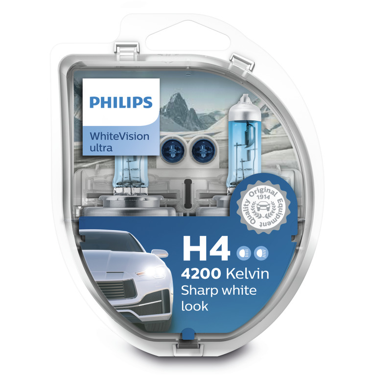 PHILIPS WHITE VISION ULTRA (H4, 12342WVUSM)