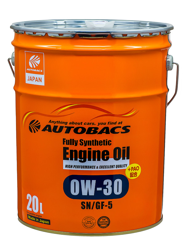 Масло моторное AUTOBACS ENGINE OIL FS 0W30 SN/GF-5+PAO, 20л