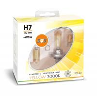 SVS Yellow 3000K H7 55W+W5W