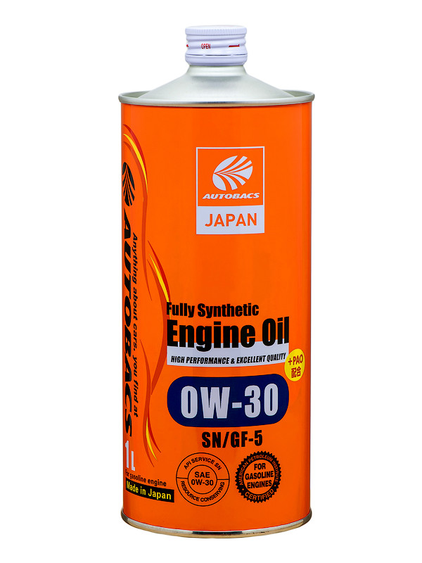 Масло моторное AUTOBACS ENGINE OIL FS 0W30 SN/GF-5+PAO, 1л