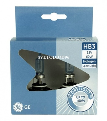 Купить General Electric HB3 12V- 60W (P20d) SportLight +50% | Svetodiod96.ru