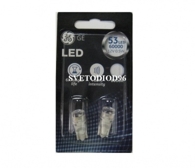 Купить General Electric W5W 12V-0,5W (W2,1x9,5d) LED 6000K | Svetodiod96.ru