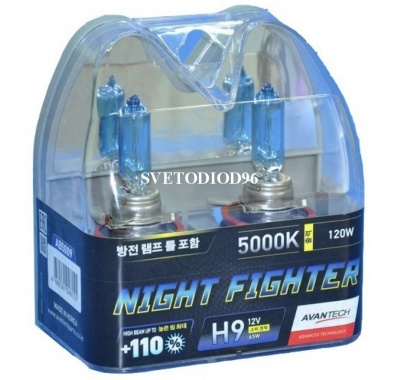 Купить Avantech NIGHT FIGHTER H9 12V 65W (120W) 5000K | Svetodiod96.ru