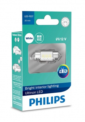 Купить Philips Ultinon LED (C5W, SV8,5-30/11, 11860ULWX1) 6000K | Svetodiod96.ru
