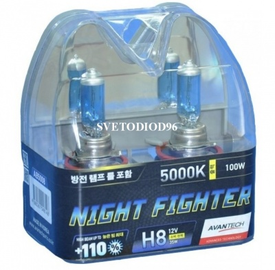 Купить Avantech NIGHT FIGHTER H8 12V 35W (70W) 5000K | Svetodiod96.ru