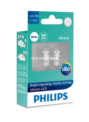 Купить Philips Ultinon LED (T10, 11961ULW4X2) | Svetodiod96.ru