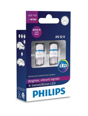 Купить Philips X-tremeUltinon LED (T10, 127998000KX2) | Svetodiod96.ru