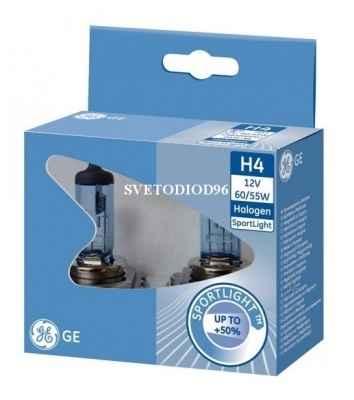 Купить General Electric H4 12V- 60/55W (P43t) SportLight +50% | Svetodiod96.ru